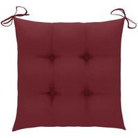 Casa Almofada de cadeira VidaXL Almofadão de cadeira 50 x 50 x 7 cm Vermelho