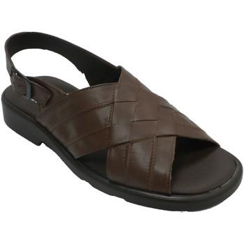 Sapatos Homem Sandálias Calzados Fuensalida Sandálias masculinas com alças trançadas marrón