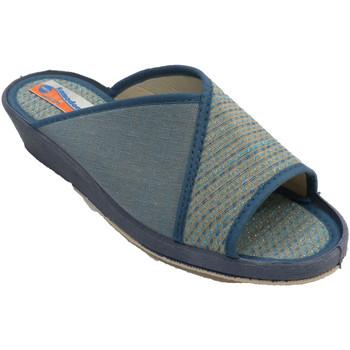 Sapatos Mulher Chinelos Made In Spain 1940 Chinelos femininos abertos com bolinhas azul