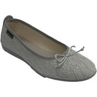 Sapatos Mulher Chinelos Made In Spain 1940 Sapatos baixos femininos fios de prata A gris