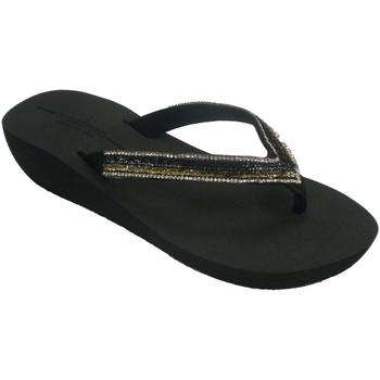 Sapatos Mulher Chinelos Gioseppo-N Chinelos femininos com diamantes na biqu negro