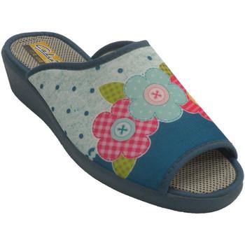 Sapatos Mulher Chinelos Aguas Nuevas Tênis feminino com salto aberto Aguas nu azul