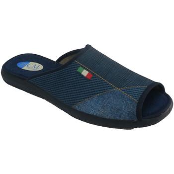 Sapatos Homem Chinelos Calzamur Chinelos de salto e dedos abertos mascul azul