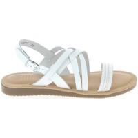 Sapatos Mulher Sandálias TBS Blaudia Croco Blanc Branco