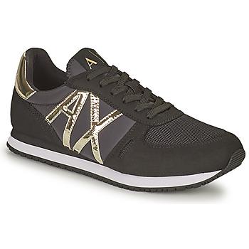 Sapatos Mulher Sapatilhas Armani Exchange HALOISE Preto / Ouro
