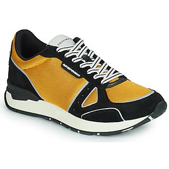Sapatos Homem Sapatilhas Emporio Armani TREMMA Preto / Amarelo