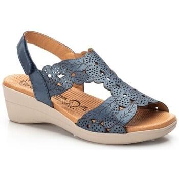 Sapatos Homem Alpargatas Morxiva Shoes Sandalia de piel de mujer by TROPPA (R.ST) Bleu
