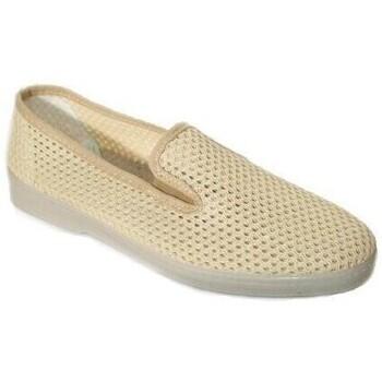 Sapatos Homem Slip on Cbp - Conbuenpie Sandalia de piel de mujer by TROPPA (R.ST) Beige