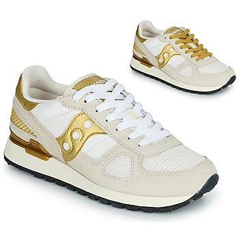 Sapatos Mulher Sapatilhas Saucony SHADOW ORIGINAL Branco / Ouro