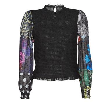 Textil Mulher Tops / Blusas Desigual HAMBURGO Preto