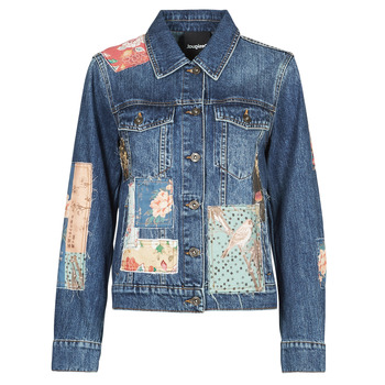 Textil Mulher casacos de ganga Desigual JAPO PATCH Azul
