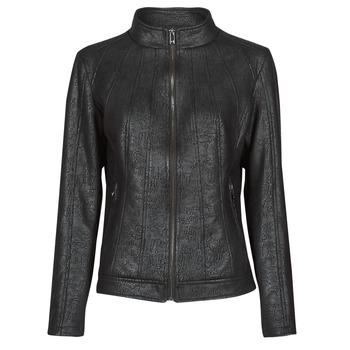 Textil Mulher Casacos de couro/imitação couro Desigual COMARUGA Preto