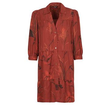 Textil Mulher Vestidos curtos Desigual SEVILLA Vermelho