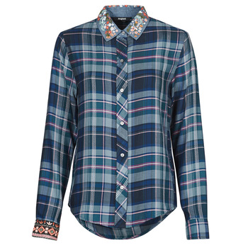Textil Mulher camisas Desigual SUSAN SONTAG Azul