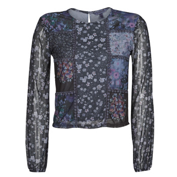 Textil Mulher T-shirt mangas compridas Desigual BELLADONA Marinho