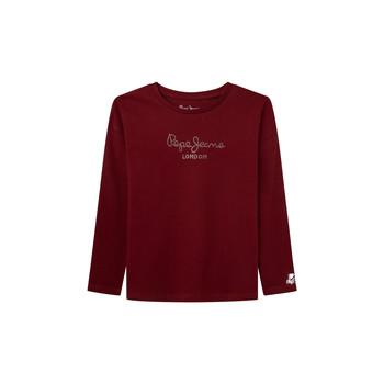 Textil Rapariga T-shirt mangas compridas Pepe jeans NURIA LS Vermelho