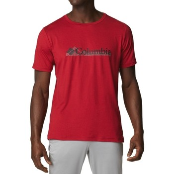 Textil Homem T-Shirt mangas curtas Columbia Tech Trail Graphic Tee Rouge
