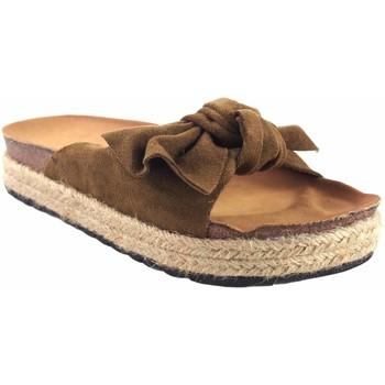 Sapatos Rapariga Chinelos Bubble Bobble Sport girl  BOBBLE couro a3296 Castanho