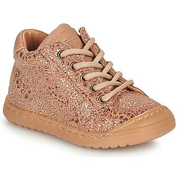 Sapatos Rapariga Botas baixas Bisgaard THOR Rosa / Ouro