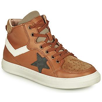 Sapatos Rapaz Sapatilhas de cano-alto Bisgaard ISAK Conhaque