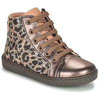 Sapatos Rapariga Sapatilhas de cano-alto Bisgaard GAIA Leopardo / Ouro