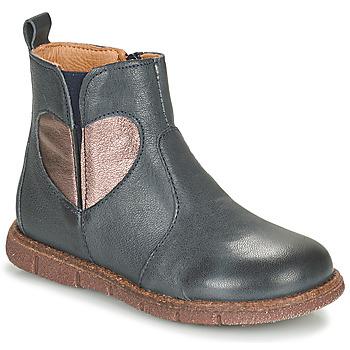 Sapatos Rapariga Botas baixas Bisgaard MAGGIE Marinho / Prata