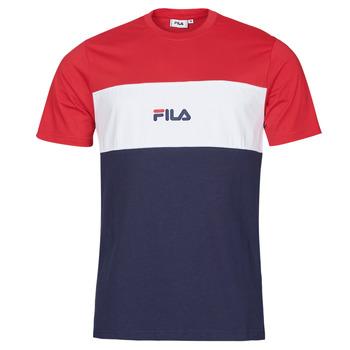 Textil Homem T-Shirt mangas curtas Fila ANOKI Vermelho / Marinho / Branco
