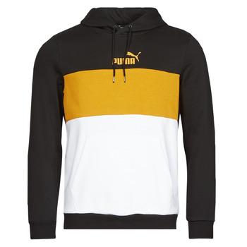 Textil Homem Sweats Puma ESS+ COLORBLOCK HOODIE FL Preto / Amarelo