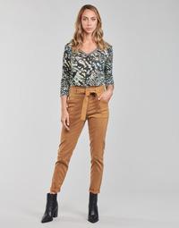 Textil Mulher Calças One Step FT22111 Bege