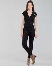 Textil Mulher Calças Morgan PETRA Preto