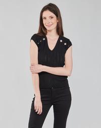 Textil Mulher Tops / Blusas Morgan MDIDO Preto