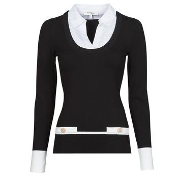 Textil Mulher camisolas Morgan MFLO Preto / Branco