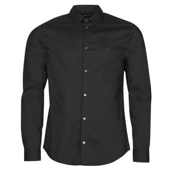 Textil Homem Camisas mangas comprida Emporio Armani 8N1C09 Preto