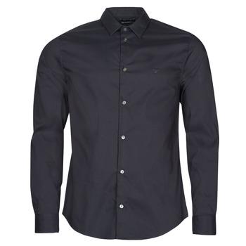 Textil Homem Camisas mangas comprida Emporio Armani 8N1C09 Marinho