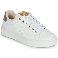 Sapatos Rapariga Sapatilhas Kappa SAN REMO Branco / Ouro / Prata