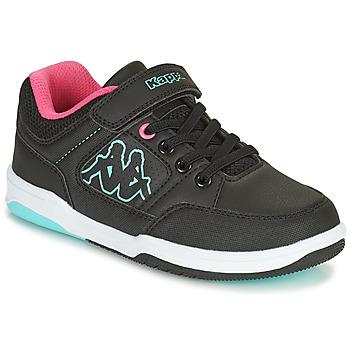 Sapatos Rapariga Sapatilhas Kappa KASH LOW EV Preto / Azul / Rosa