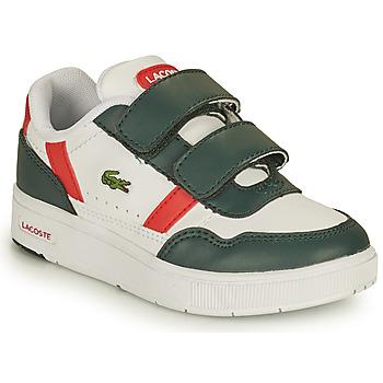 Sapatos Criança Sapatilhas Lacoste T-CLIP 0121 2 SUI Branco / Verde / Vermelho