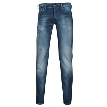Textil Homem Calças de ganga slim Jack & Jones JIGLENN JJROCK Azul