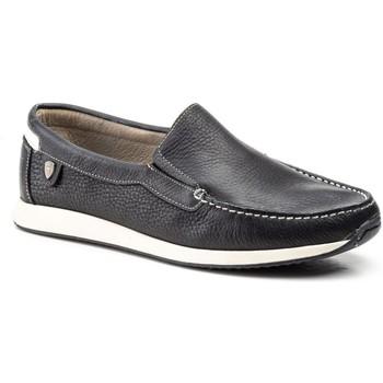 Sapatos Homem Mocassins Iberico Shoes Mocasin de hombre de piel by Comodo Sport Noir