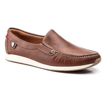 Sapatos Homem Mocassins Iberico Shoes Mocasin de hombre de piel by Comodo Sport Marron