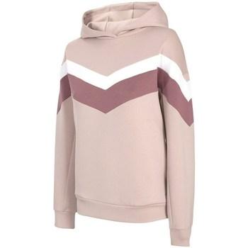 Textil Mulher Sweats 4F BLD020 Cor bege