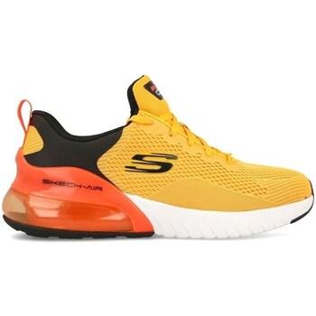 Sapatos Homem Sapatilhas Skechers Air Stratus Preto, Cor de laranja, Amarelo