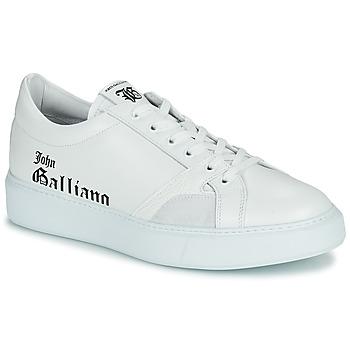 Sapatos Homem Sapatilhas John Galliano MISSISSIPPI Branco