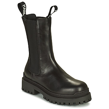 Sapatos Mulher Botas baixas Karl Lagerfeld BIKER II LONG GORE BOOT Preto