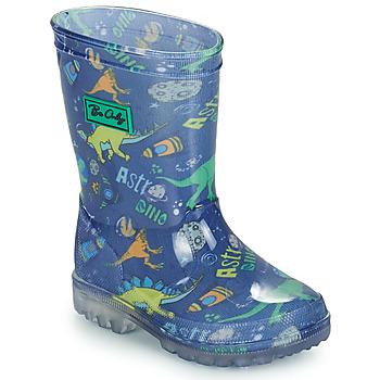 Sapatos Rapaz Botas de borracha Be Only DINO FLASH Azul / Verde