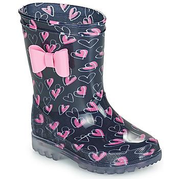 Sapatos Rapariga Botas de borracha Be Only LOVANA FLASH Rosa / Marinho