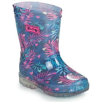 Sapatos Rapariga Botas de borracha Be Only BINTOU Azul / Rosa
