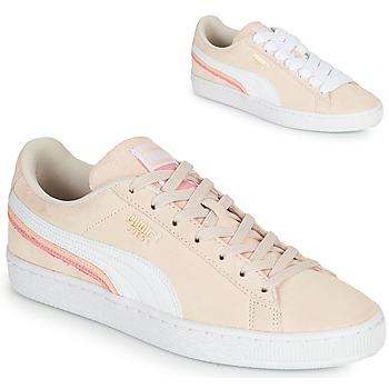 Sapatos Mulher Sapatilhas Puma SUEDE TRIPLEX Rosa / Branco