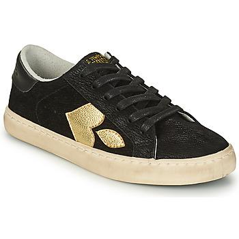 Sapatos Mulher Sapatilhas Le Temps des Cerises AUSTIN Preto / Ouro