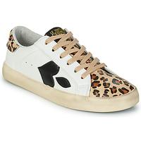 Sapatos Mulher Sapatilhas Le Temps des Cerises AUSTIN Branco / Leopardo